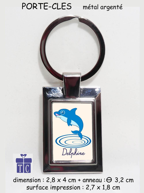 Porte clés Dauphin à personnaliser