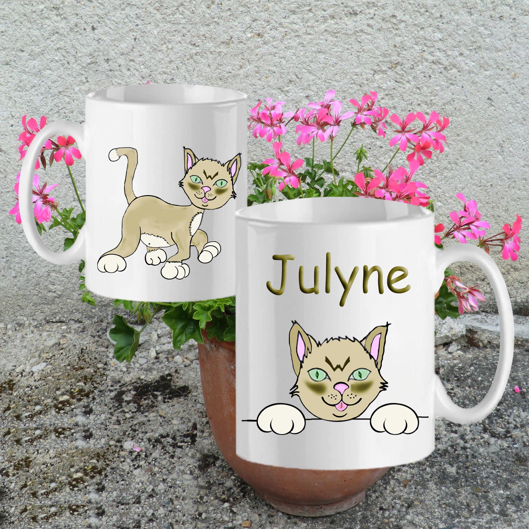 mug-chat-blanc-personnalisable-texticadeaux-personnalisation-personnalise-ceramique-tasse-animal-mammifere-felin-chaton-nature-prenom-julyne