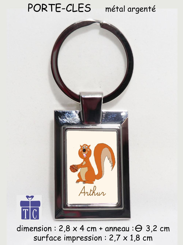Porte clés écureuil à personnaliser