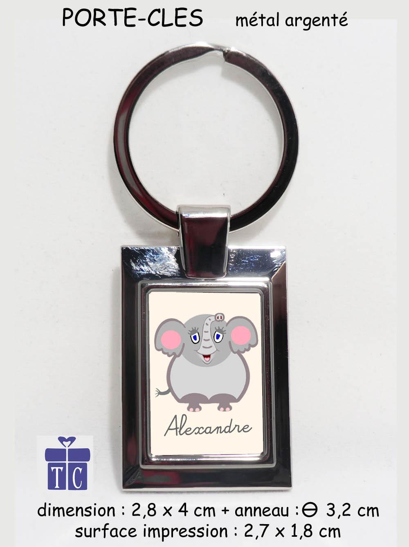 Porte clés Eléphant à personnaliser