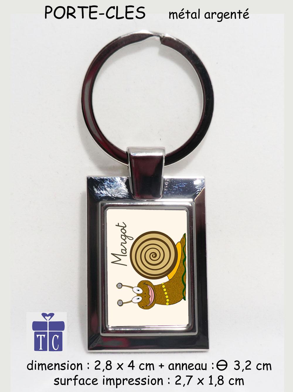 Porte clés Escargot à personnaliser