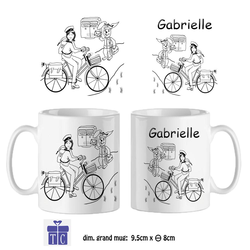 Mug Factrice Personnalisable avec un Prénom Exemple Gabrielle