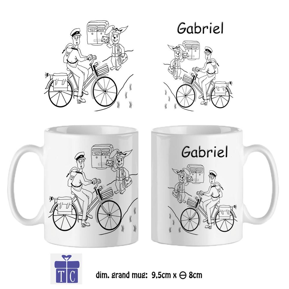 Mug Facteur Personnalisable avec un Prénom Exemple Gabriel
