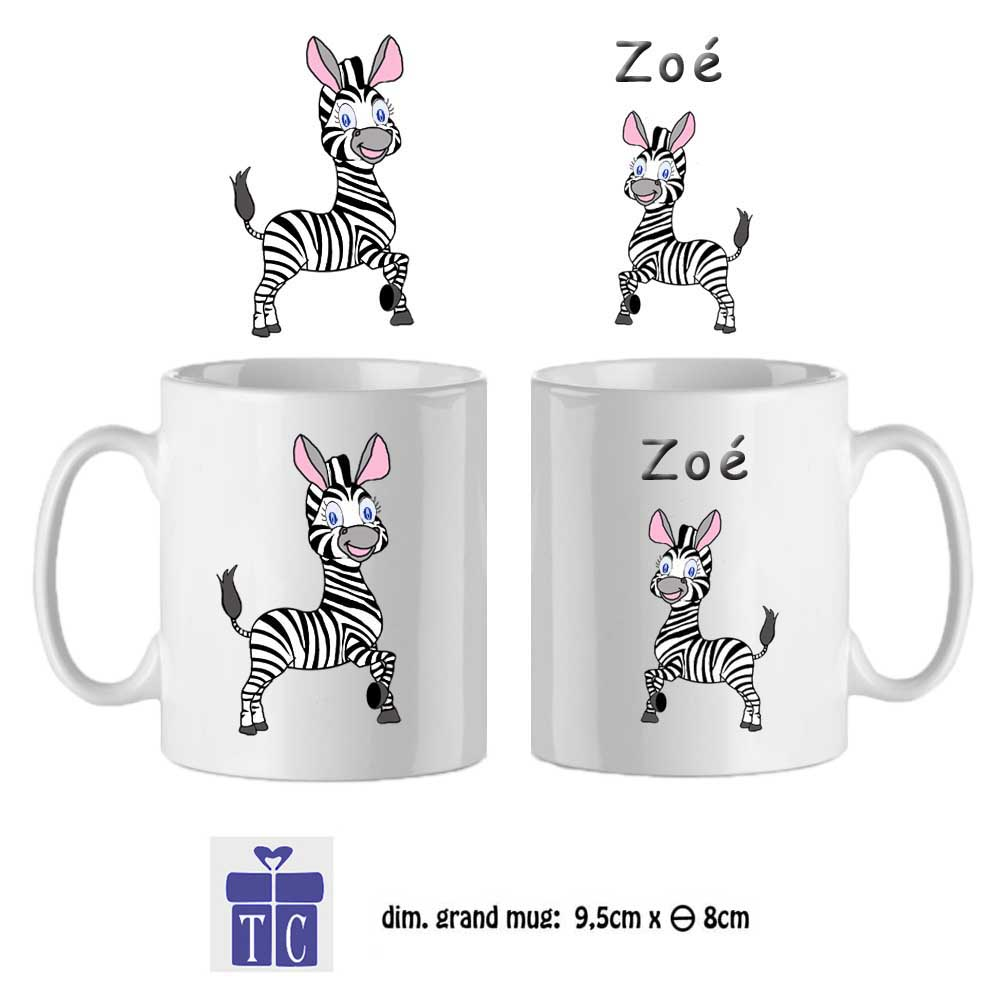 48Mug-texticadeaux-cadeaux-zebre-prenom-zoé