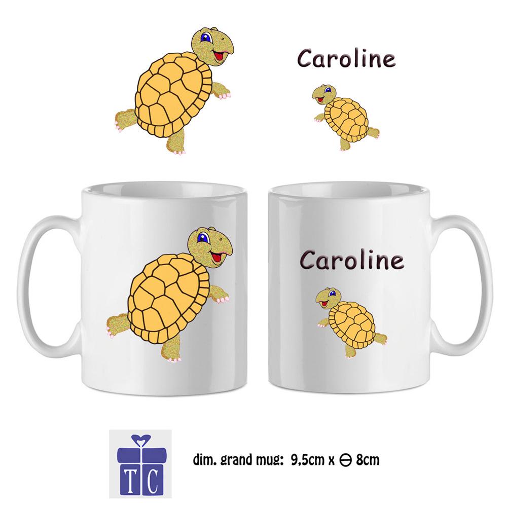 45Mug-texticadeaux-cadeaux-tortue-prenom-caroline