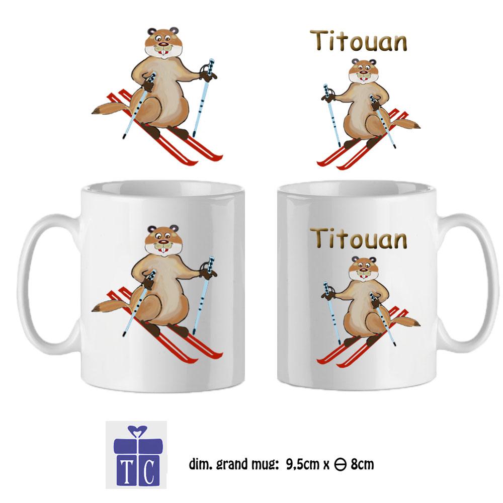 36Mug-texticadeaux-cadeaux-marmotte ski-prenom-titouan