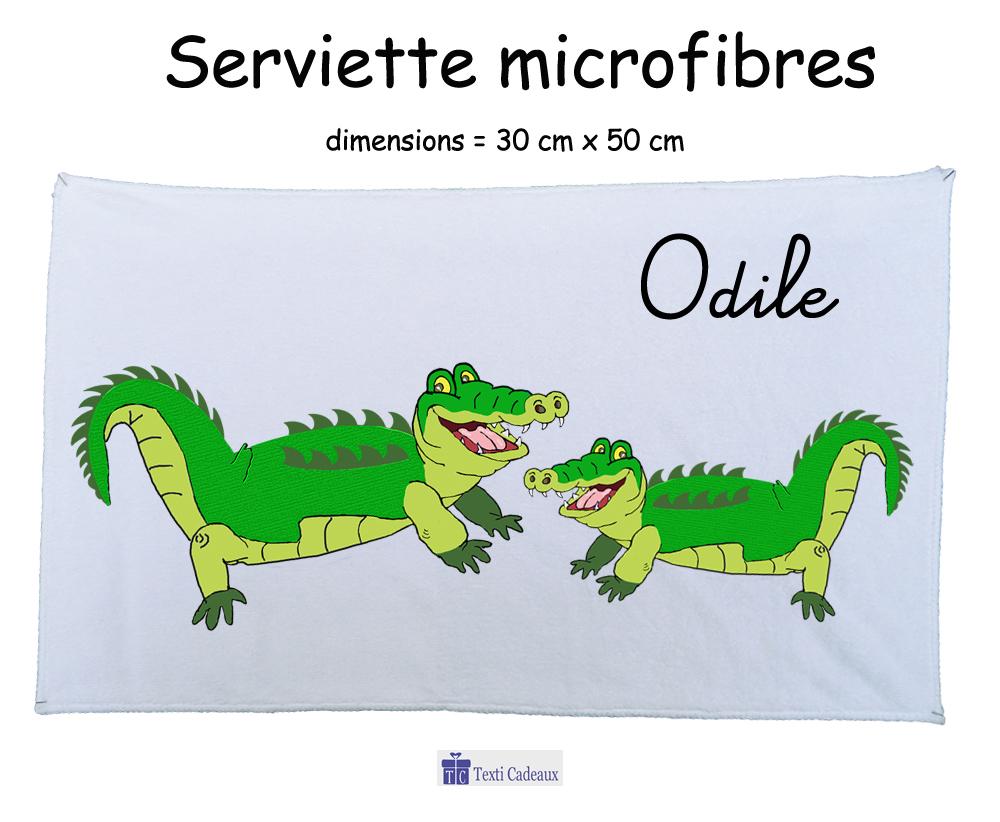 Essuie mains Crocodile à personnaliser