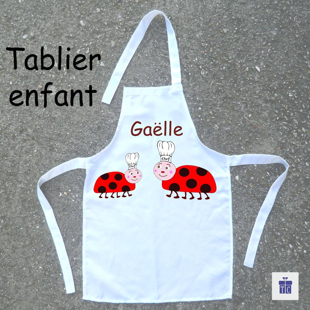 Tablier de cuisine enfant Coccinelle