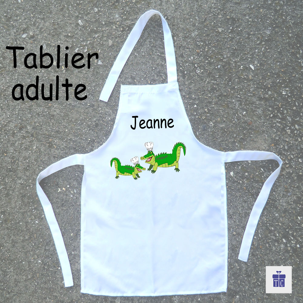 Tablier cuisine adulte Crocodile