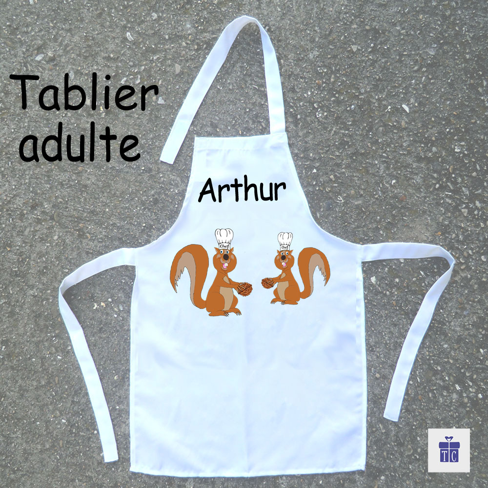 Tablier cuisine adulte écureuil