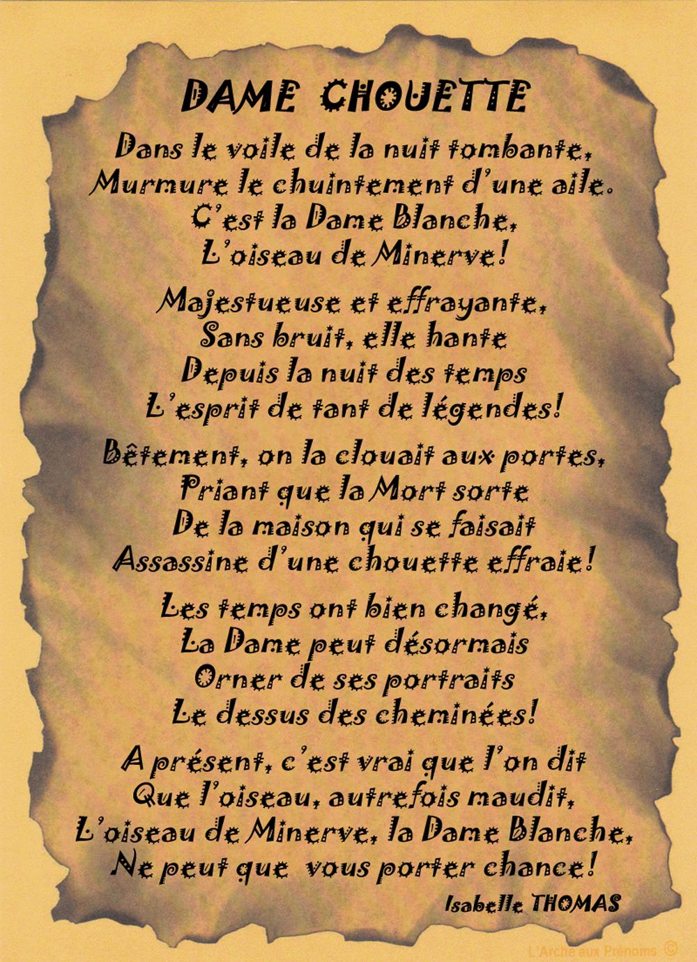 Un Poème Chouette