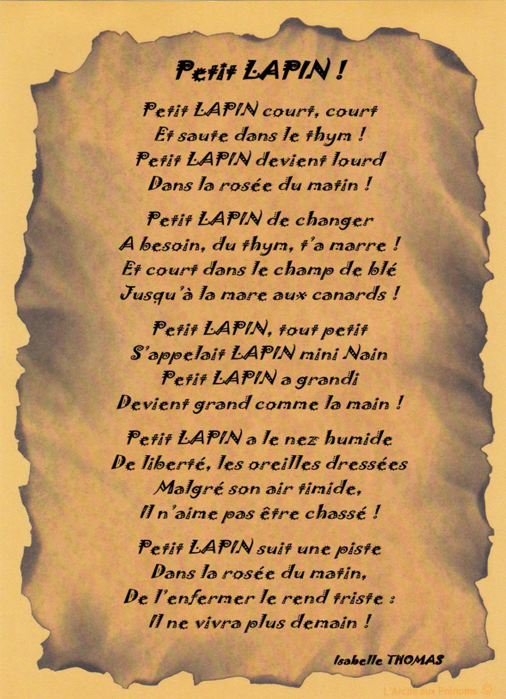Un Poème Lapin