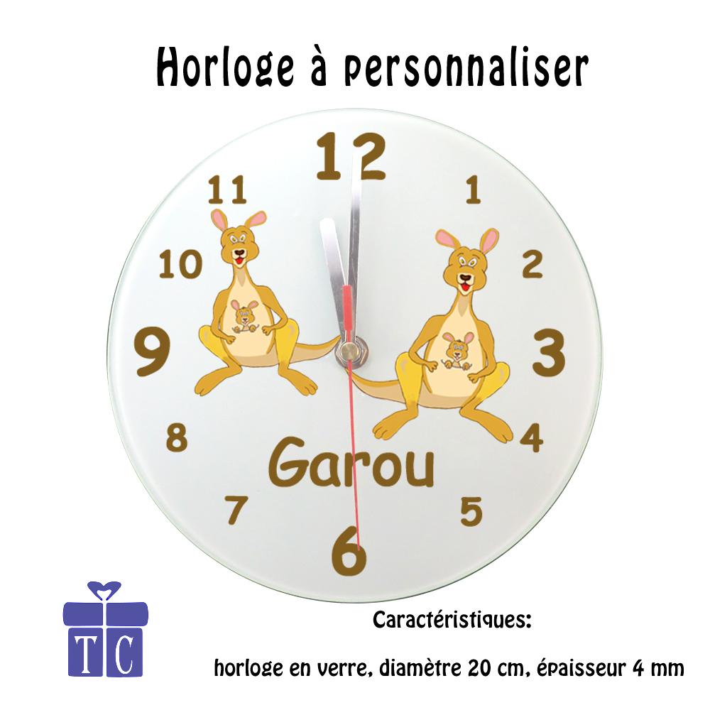 Horloge Kangourou à personnaliser