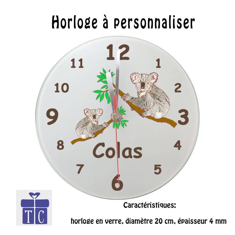 Horloge Koala à personnaliser