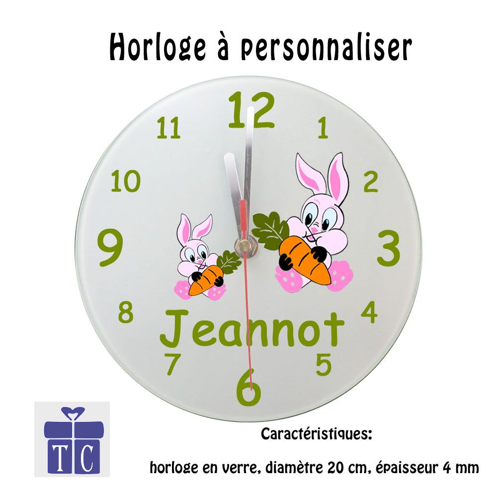 Horloge Lapin à personnaliser