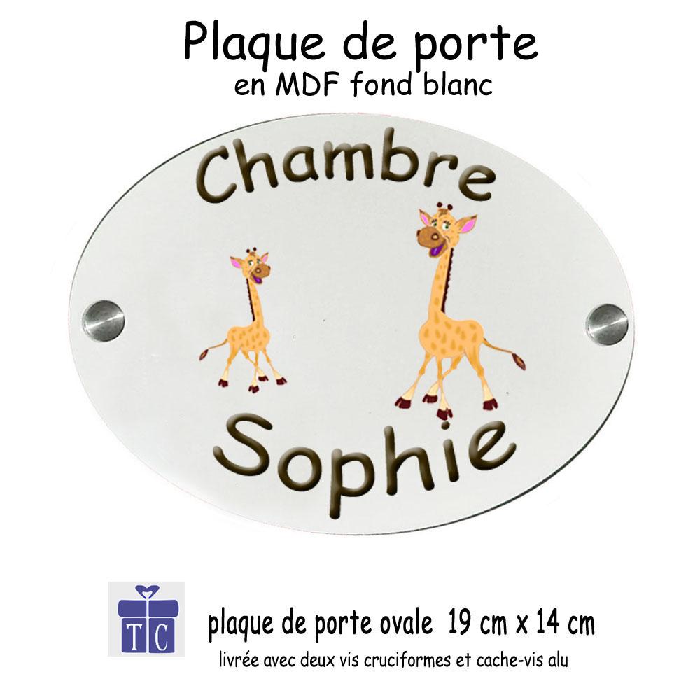 Plaque de Porte Girafe