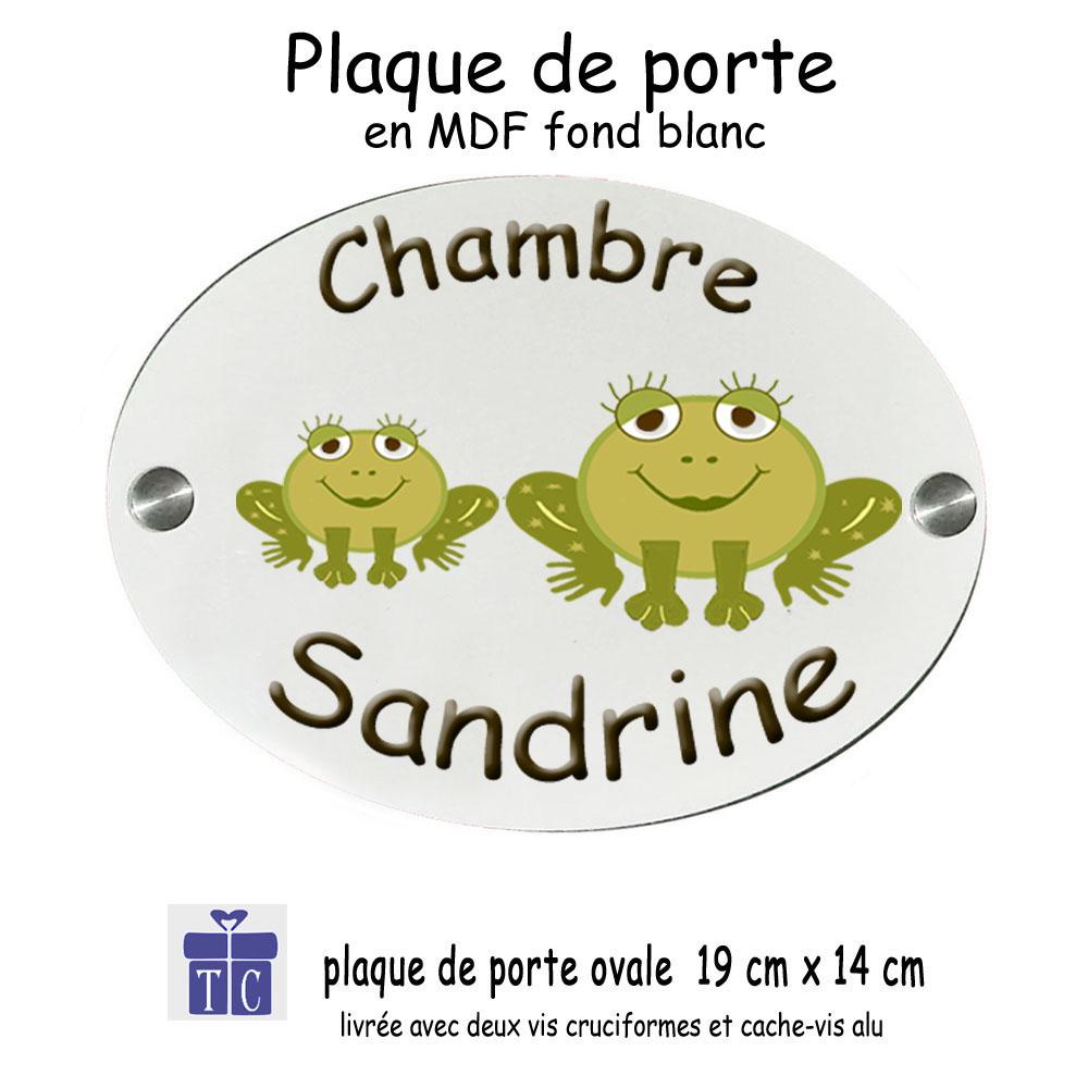 Plaque de Porte Grenouille