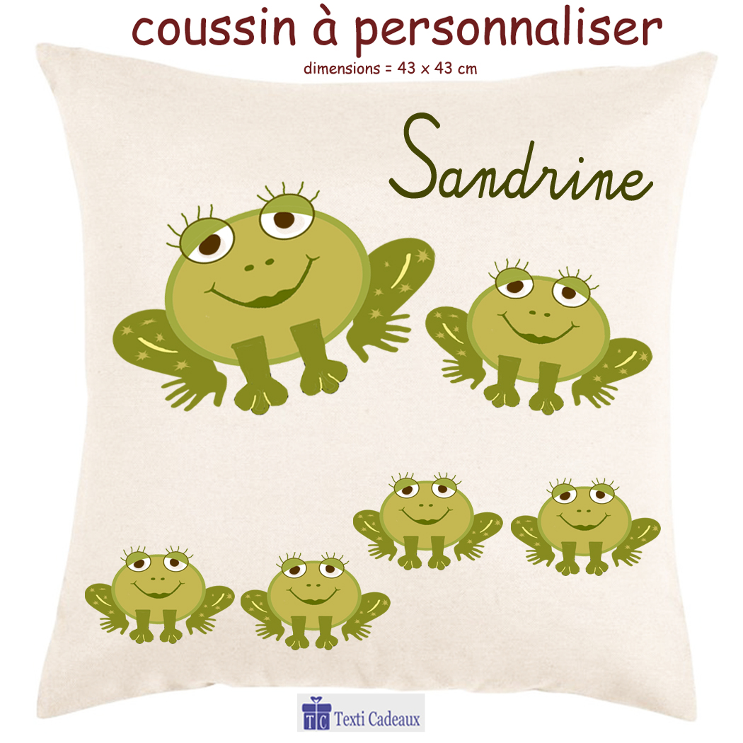 Coussin grenouille