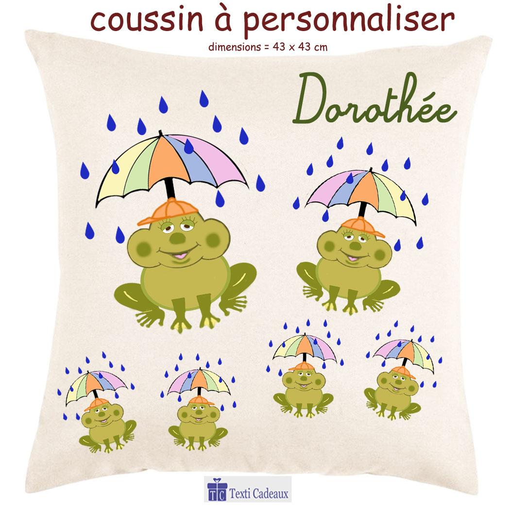 Coussin grenouille pluie