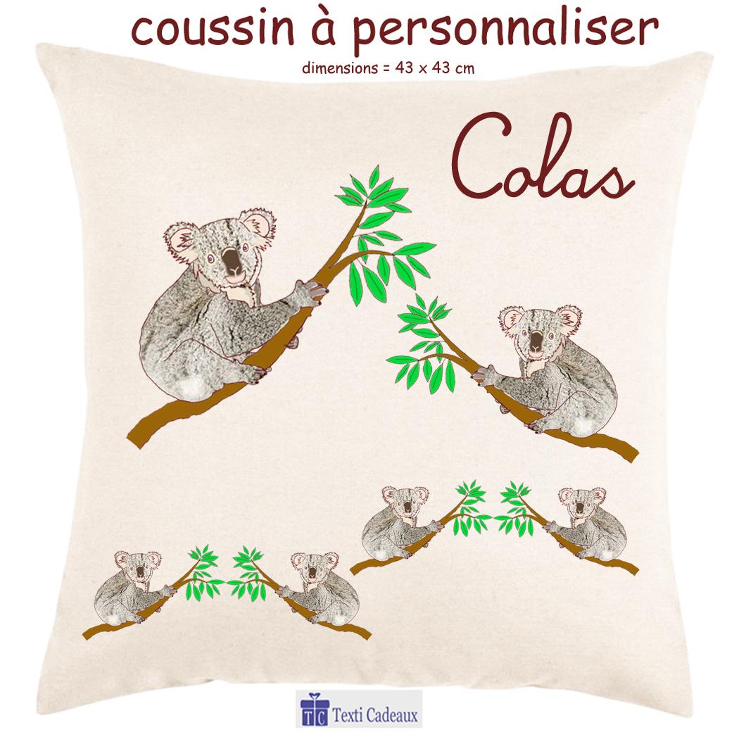Coussin koala à personnaliser