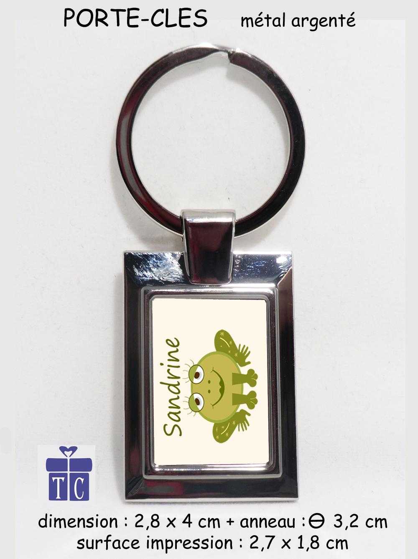 Porte clés grenouille à personnaliser