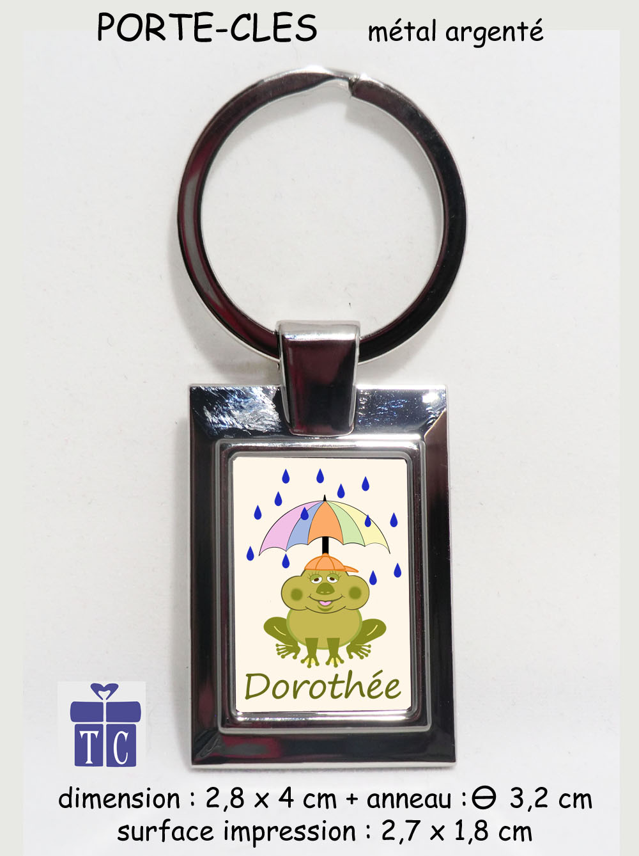 Porte clés grenouille parapluie