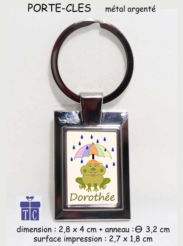 Porte clés grenouille parapluie à personnaliser