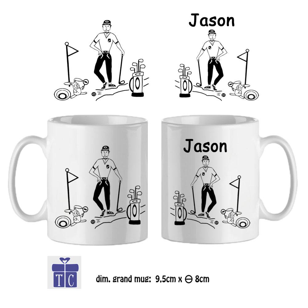 Mug golf à personnaliser