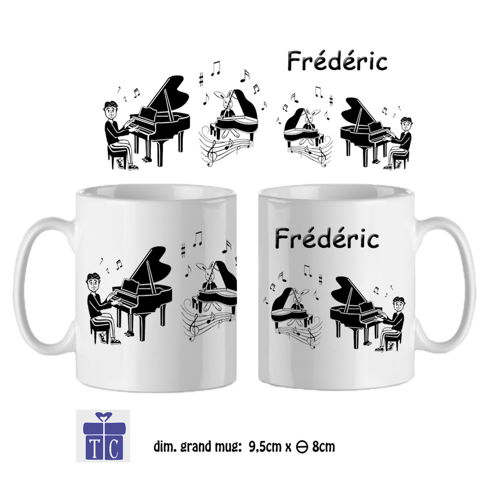 Mug pianiste à personnaliser