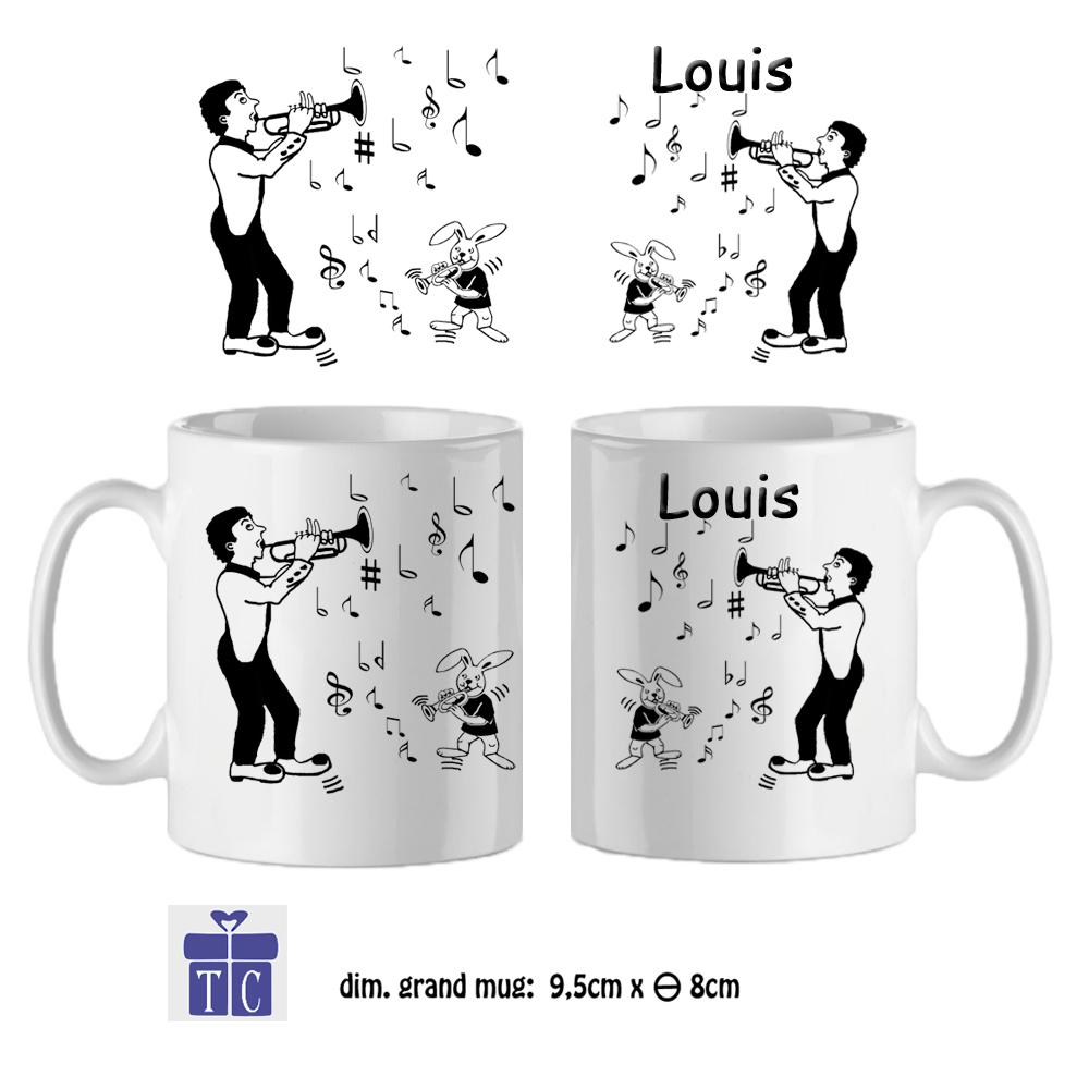 Mug trompette à personnaliser