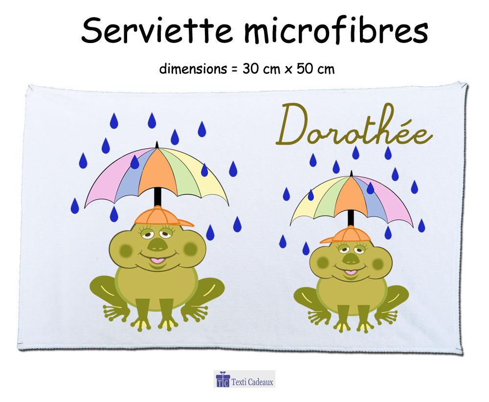 Essuie mains grenouille avec parapluie à personnaliser