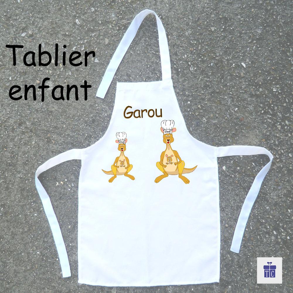 Tablier de cuisine enfant kangourou