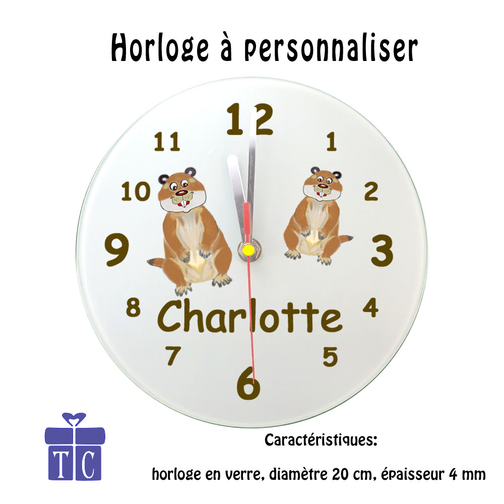 Horloge marmotte
