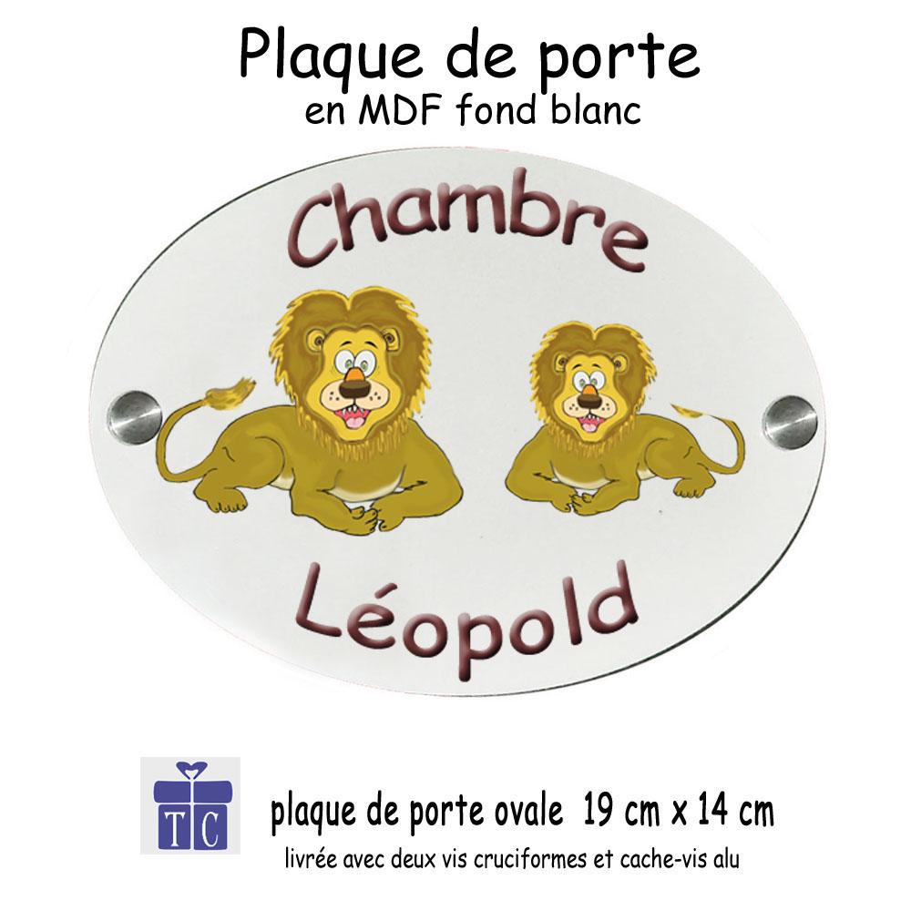 Plaque de porte lion à personnaliser
