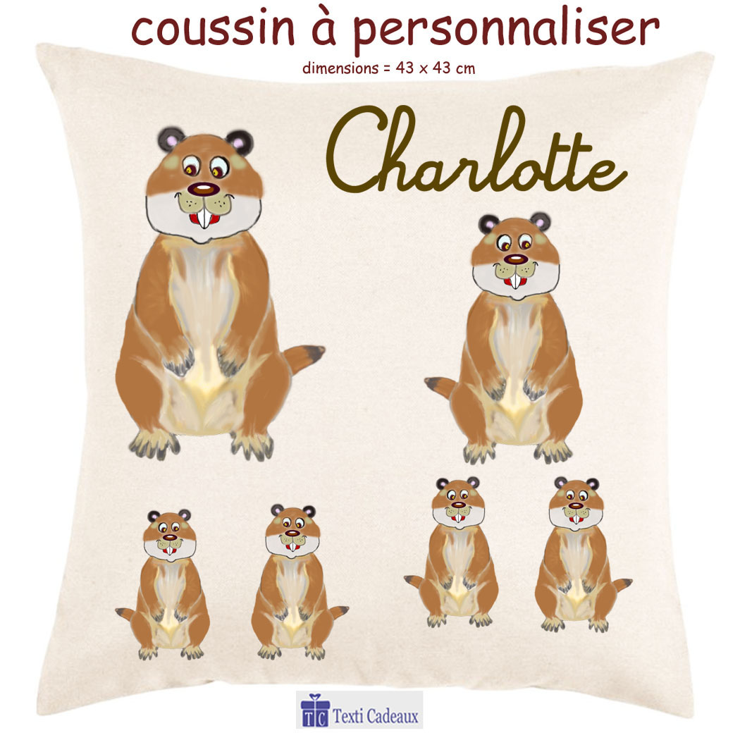 Coussin marmotte