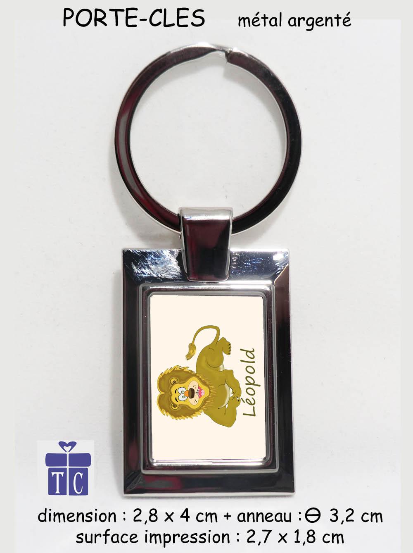 Porte clés lion à personnaliser