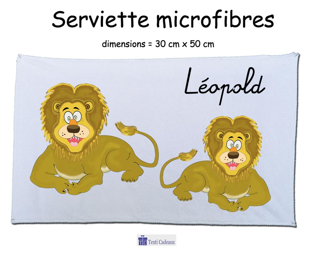 Essuie mains lion à personnaliser