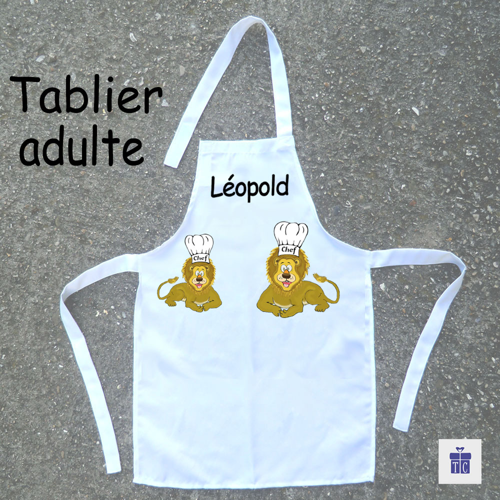 Tablier cuisine adulte lion