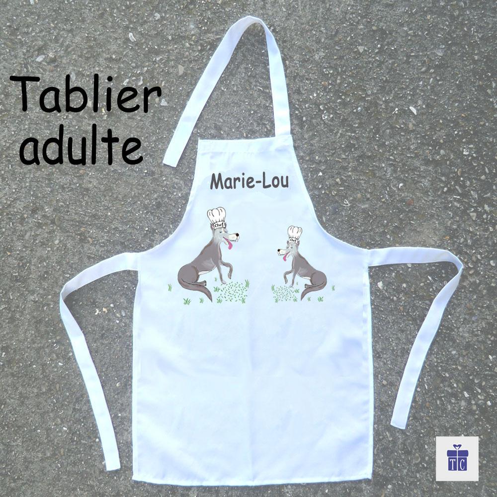 Tablier cuisine adulte loup