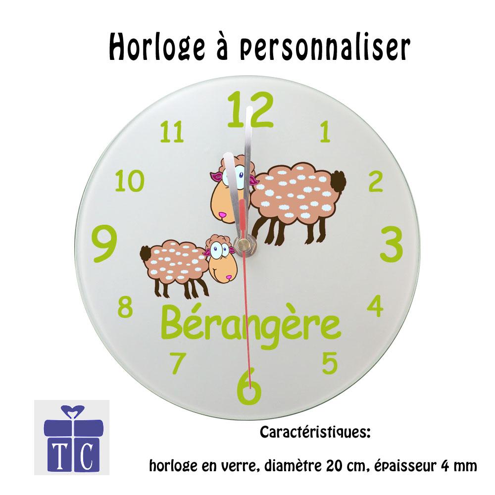 Horloge mouton à personnaliser
