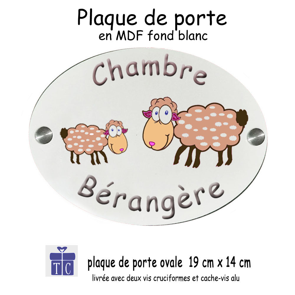 Plaque de porte mouton