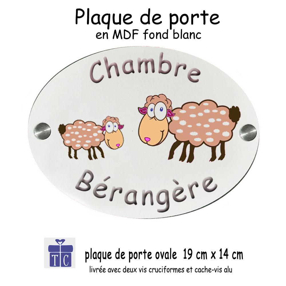 Plaque de porte mouton à personnaliser
