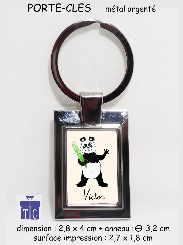 Porte clés panda à personnaliser
