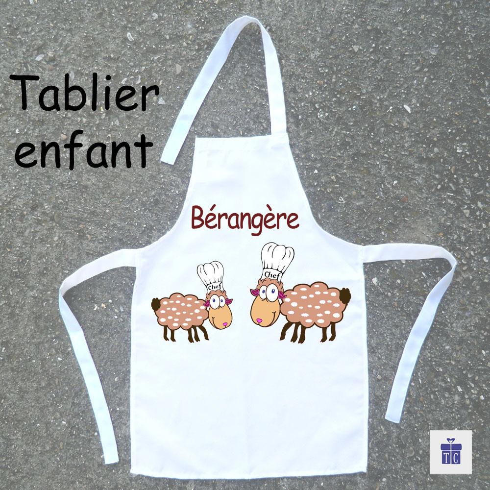 Tablier de cuisine enfant mouton à personnaliser