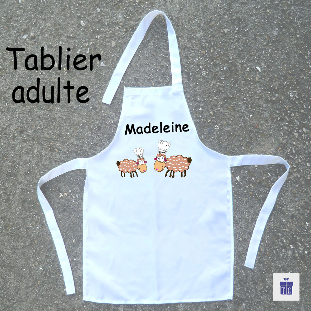 Tablier cuisine adulte mouton