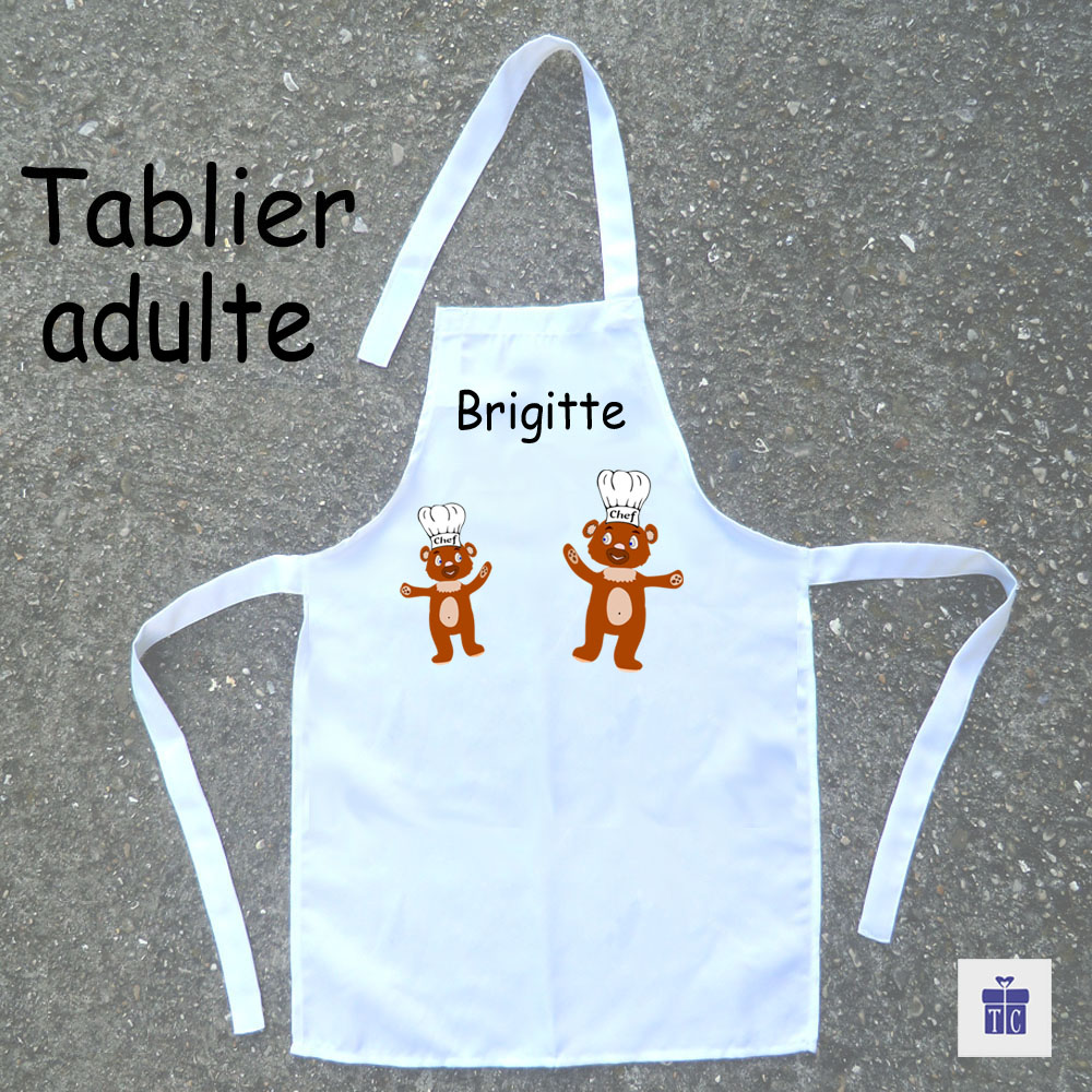 Tablier cuisine adulte nounours