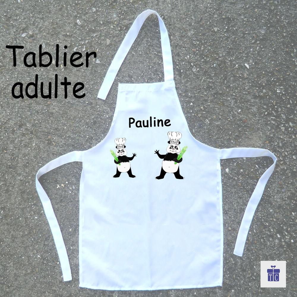 Tablier cuisine adulte panda