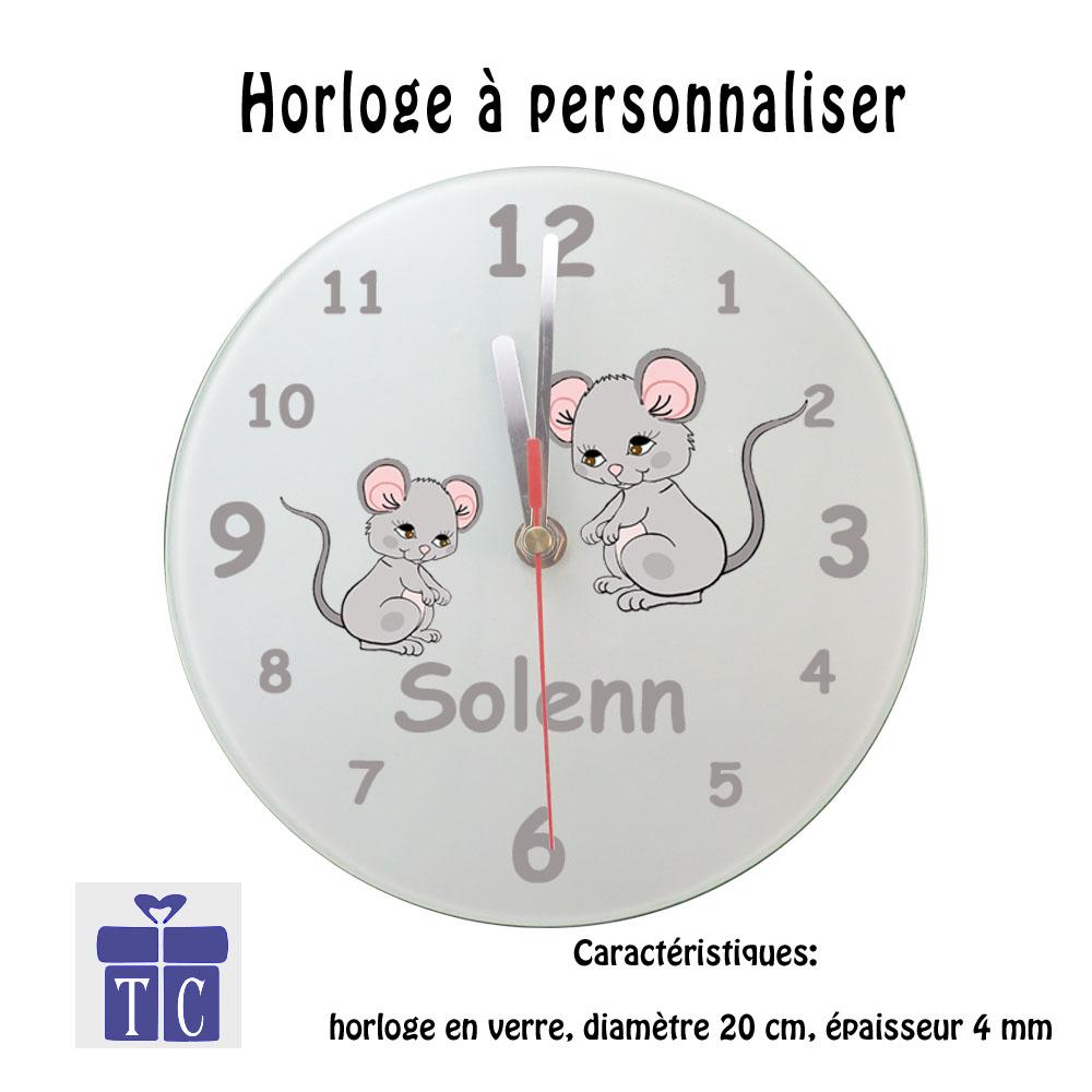 Horloge souris à personnaliser