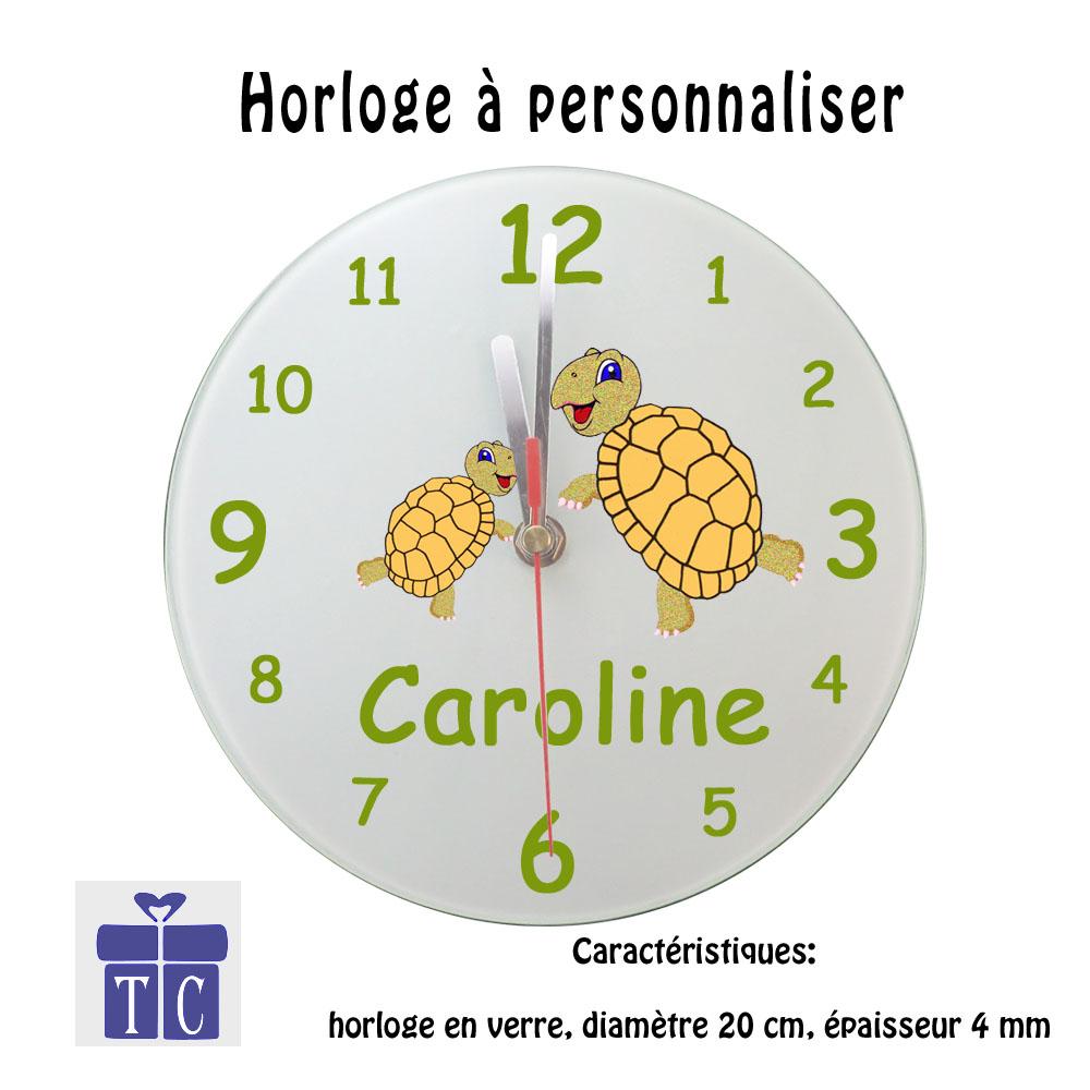 Horloge tortue à personnaliser