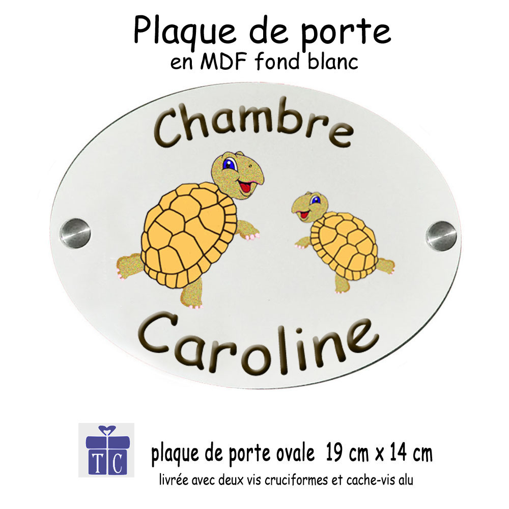 Plaque de porte tortue
